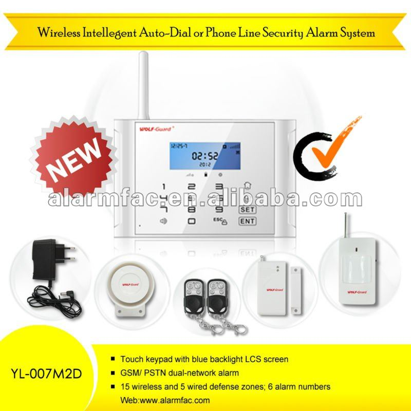 NEWwireless GSM+PSTN wireless home immobilizer security system 220v 50hz with touch screen