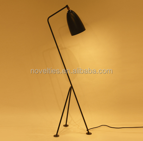 Lobby iron floor lamp black standing lamp for living room