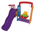 Durable outdoor easily assembled nursery school plastic children swing set