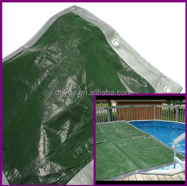 Rotproof heavy gauge swimming pool pe tarpaulin,UV stabilized tarpaulin material