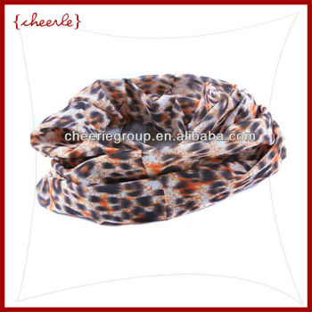 2013 fashion leopard shoulder wrap silk chiffon scarf