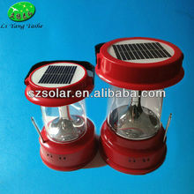 Solar Camping Lantern with Bright LED lamp and Radio Functions, Mobile Phone Charge