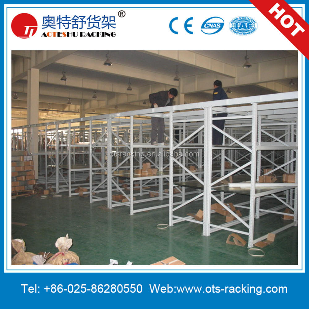 Warehouse Shelf As Stainless Steel Slotted Angle Gondola Rack