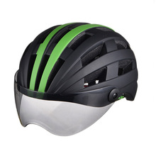 MTB helmet our factory light weight CE safety adult bike bicycle cycling helmet with wind glasses