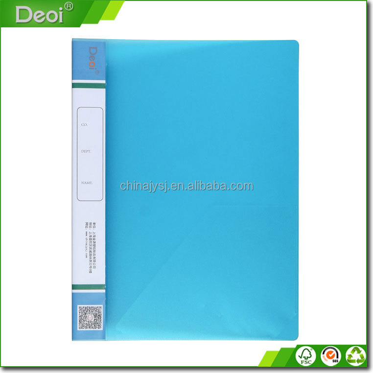 A3 A4 A5 portable book display pocket pp plastic clear book display books with 20 pockets View Binder made of sand surface