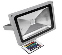 Color change aluminum rgb led flood light 50 watt with IR remote control