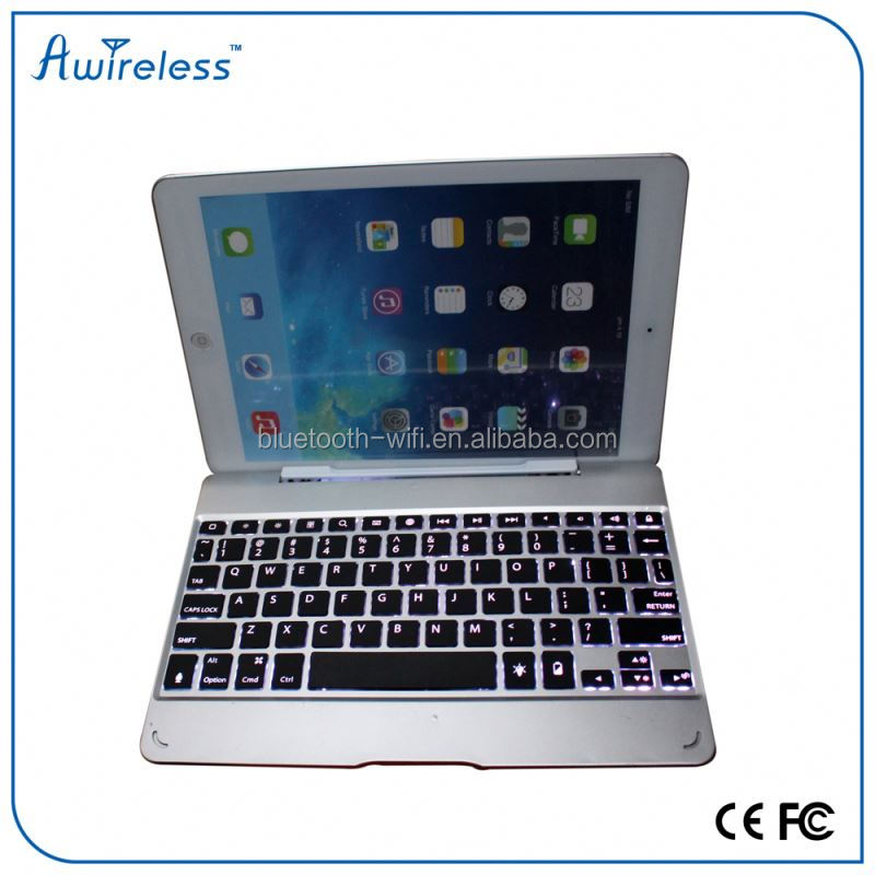 New Product Ultra-thin Super Light Universal Aluminum Bluetooth Wireless Keyboard Backlit For Apple System Special iPad Air 2
