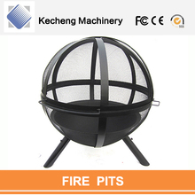Dual purpose outdoor heating and roasting Fireplace outdoor steel Bowl fire pit table