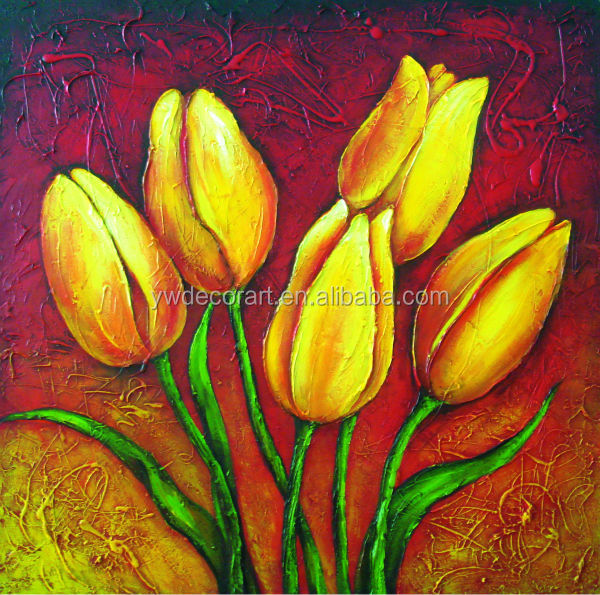 modern flower oil paintings on linen canvas DF 988