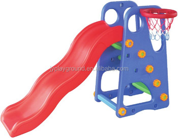 Indoor playground equipment with children play kids basketball slide game