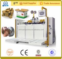 professional manufacturer packaging semi auto corrugated cardboard paper box stitching machine/carton box making machine