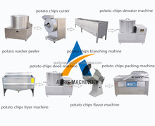 Small scale semi-automatic frozen french fries potato chips production line