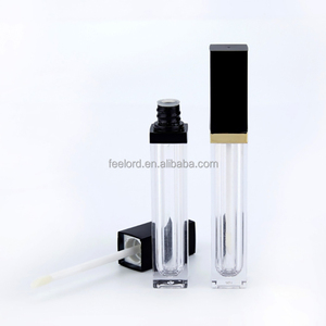 10ml empty lip gloss tube with applicator FHY020T 100pcs can make private logo empty lip gloss tube
