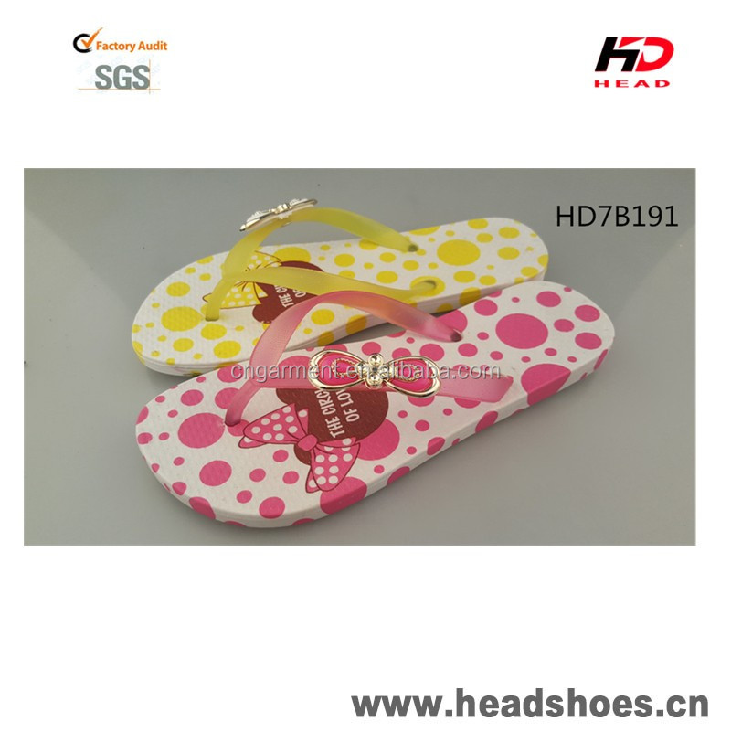 High Quality lovely PCU PVC comfortable colorful bright gorgeous nice fashion newest model women flip flops
