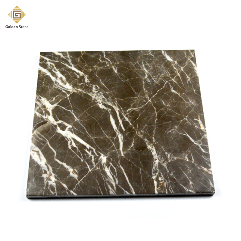 Best selling polished 2cm thick labrador brown marble in china