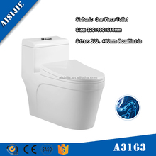 A3163 Dual Flush Siphonic Jet flushing Ceramic One Piece WC Toilet