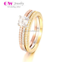 Diamond Latest Gold Finger Ring Designs Jewel Silver 925 For Wholesale FR029B