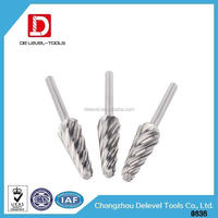 Changzhou Delevel CNC Lathe Cutting Tools Spiral Flute Taper Ball Nose End mill Milling Cutter For 3D Wood