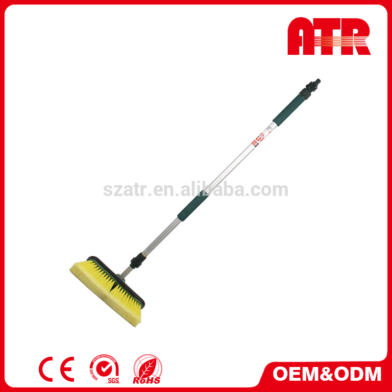 Hick 22/ 25mm alloy but light weight tube PP head + PVC soft bristle car wash brush