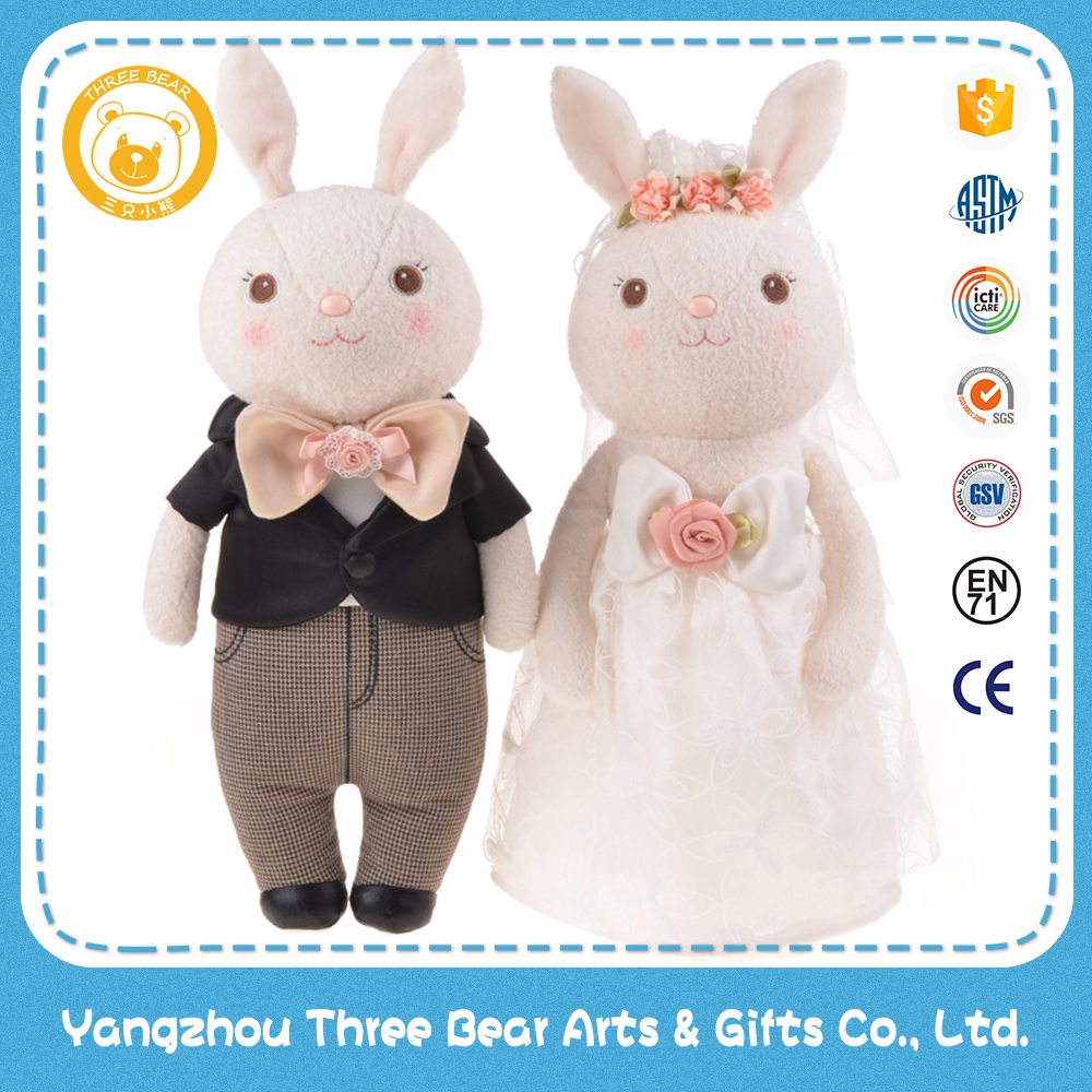 38cm wedding gifts stylish rabbit plush toys and dolls
