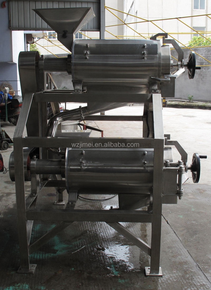 Double-channels Agitating Fruit Pulper Machine