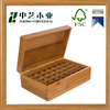 Trade assurance FSC &SA8000 natural Wood/ Bamboo Box for Essential Oil Bottle with Compartments