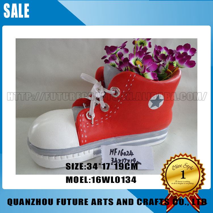 best selling art and crafts shoes flower pots garden shaped
