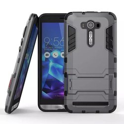 Slim Heavy Duty Combo Armor Case For ASUS ZenFone 2 Laser ZE550K Hybrid TPU+PC Dual Layer Shockproof Stand Function Phone Case