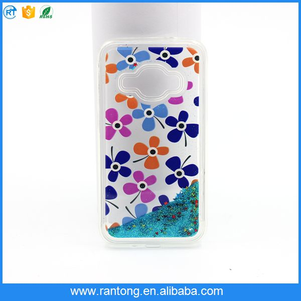 for samsung TPU+PC phone case , attractive style liquid mobile phone case for samsung