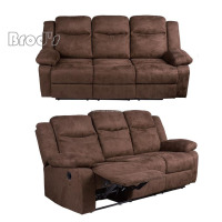 Leather Recliner 3 Seater Sofa Motion