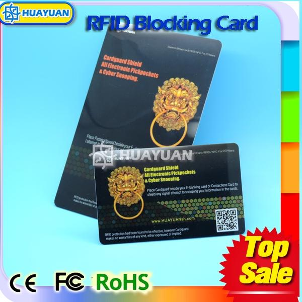Amazon Hot sale RFID blocking card for identity card theft protection
