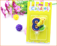 Alibaba China kids birthday animal number candles
