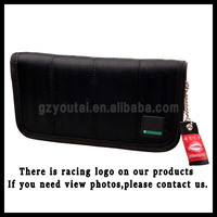 JDM Promotional Graduation Material RACING CANVAS WALLET JDM Racing Wallet Long Black