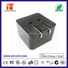 GS TUV LVD KC UL PSE CE FCC ROHS Certified 5v 1a usb travel charger