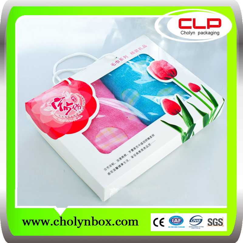 wholesale customized plastic baby blanket packaging box