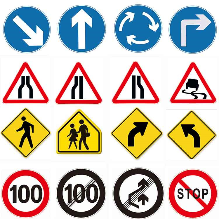 Logo Printed Emergency Warning Old Traffic Signs For Sale