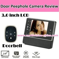 3.5 inch door video camera with 120 degree, photo shooting, Nightvision, 32GB SD card