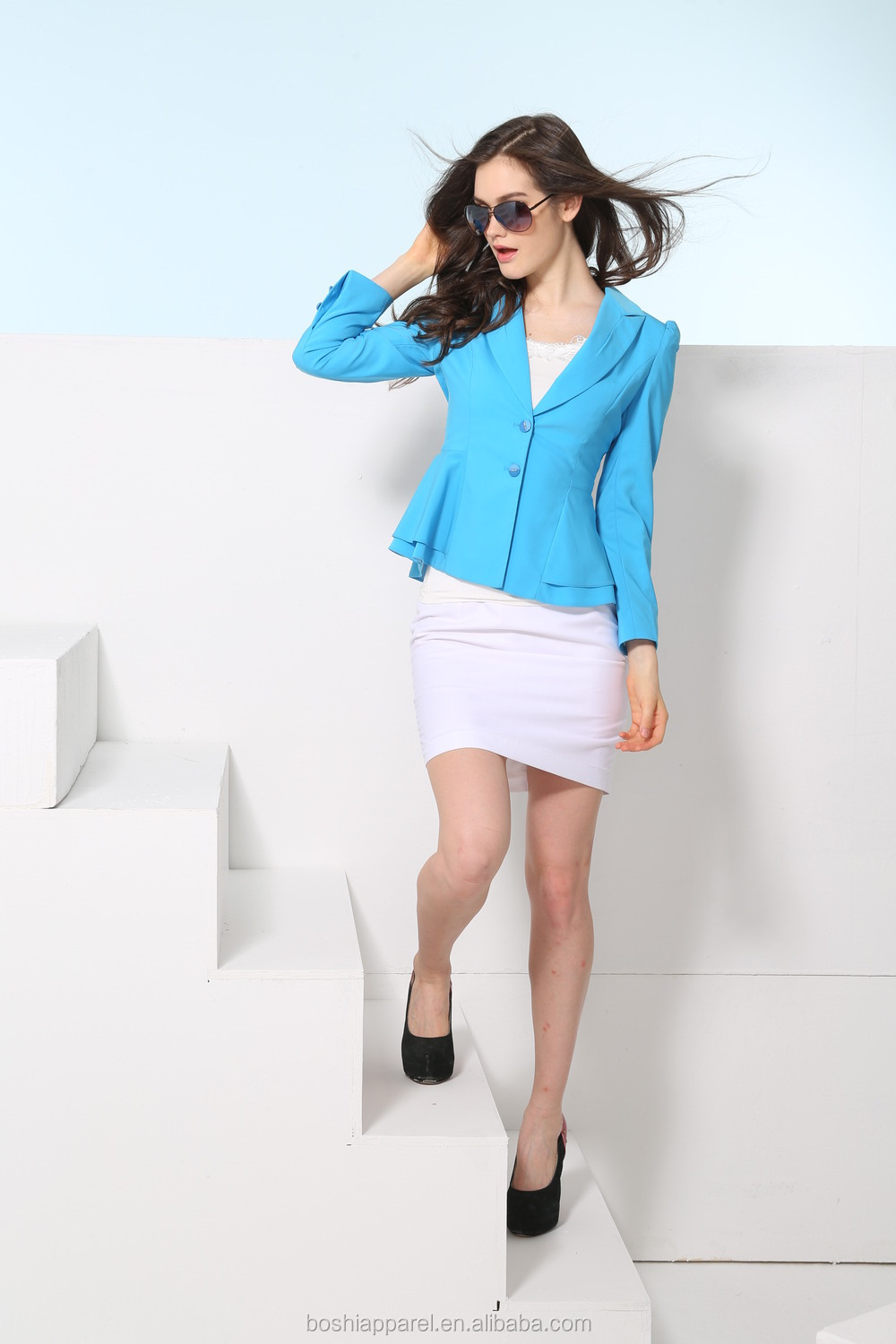 Fashinable ladies business dress suit slim ladies skirt suit