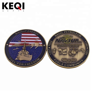 Cheap customized metal New york 3D police department challenge coin