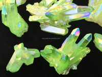 Wholesale beautiful cyan crystal cluster decorations for sale