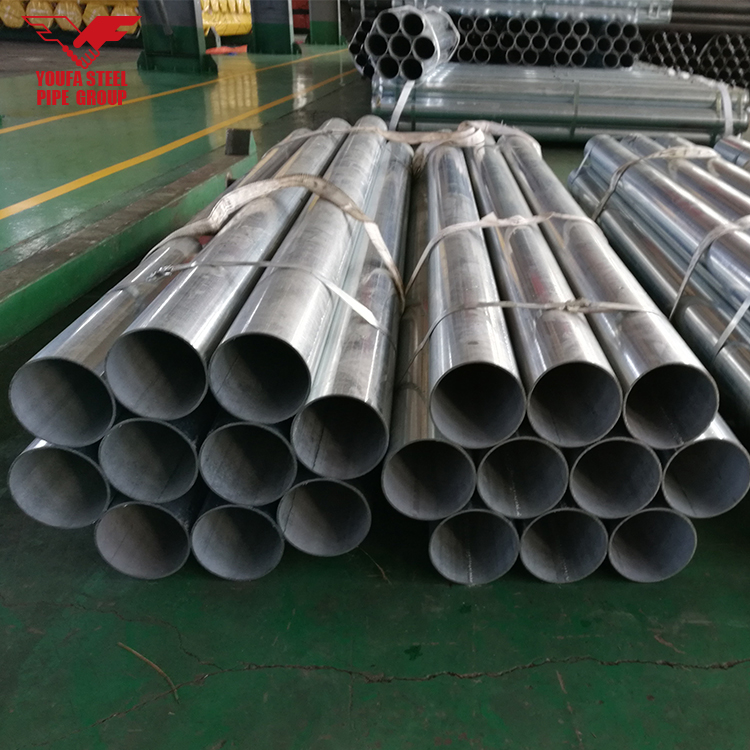 Alibaba Tianjin Factory GI pipe price list from 0.5 inch to 10 inches diameter