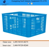 Cheap PE/PP Storage Plastic Fruit Basket for small parts