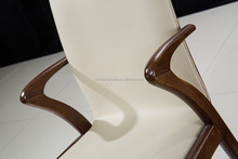 New design ash leather and wood dining chairs