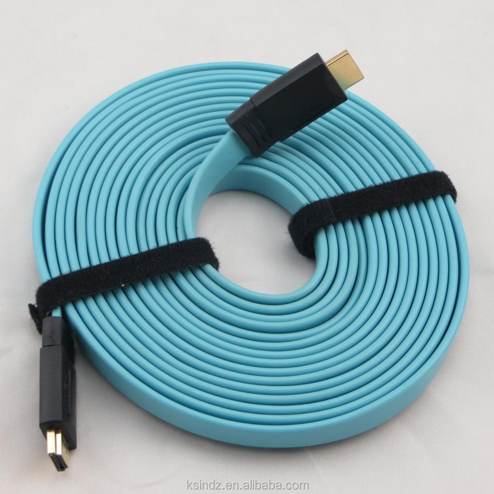 Polybag Packing 1.5M 6ft 50m 100m Connector Type flat HD hdmi Cable