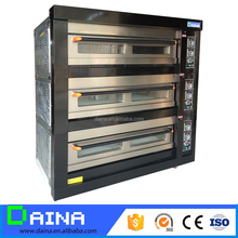 commercial bread baking gas pizza oven industrial/ electric deck oven with steam
