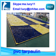Customized different pvc vinyl fabric color coated cargo trailer tarps tarpaulin covers