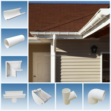 Brazil hot sale PVC rain gutter for home roofing drainage