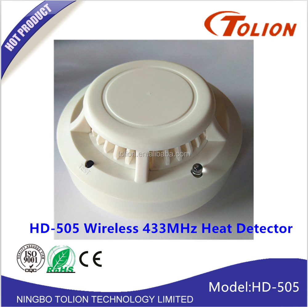 Wireless Photoelectricity Heat Detector For Home Store Hotel Factory