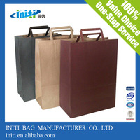 Popular Sale Different Style Kraft Paper Material Recycled Paper Grocery Bag