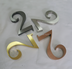 metal stainless steel apartment hotel door room house numbers sign plate